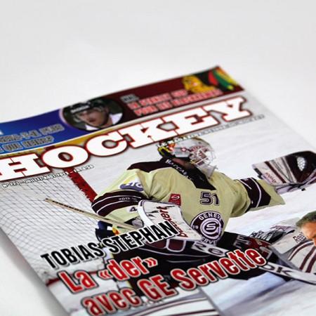 Magazine suisse de hockey créé par GraphicTouch