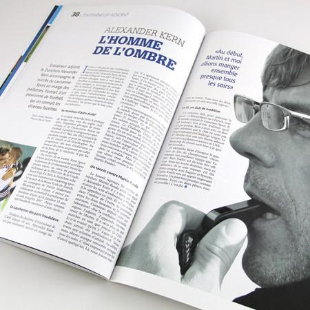 LS Mag, magazine officiel du Lausanne-Sport, création Pao Graphique
