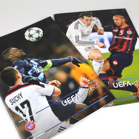 UEFA direct mise en page par graphictouch